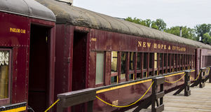 Old train cars in new hope Stock Photo