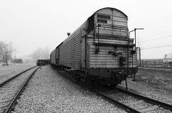 Old Train Cars. On the platform,museum Royalty Free Stock Photos