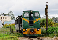 Old train coming the station in Dalat, Vietnam Stock Image
