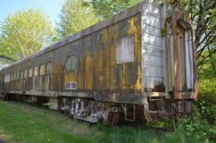 Old Train. Concrete Washington, used to transport Cement, old train sits in the small town of Concrete Stock Photo