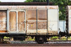 Old train container Stock Images