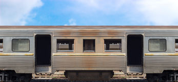 Old train container on cargo concept Stock Photo