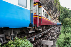 Old train on death railway Stock Photography