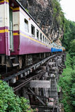 Old train on death railway Stock Image