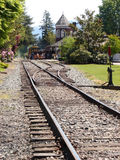 Old train depot. The Northwest Railway Museum operates a heritage railroad called the Snoqualmie Valley Railroad royalty free stock images