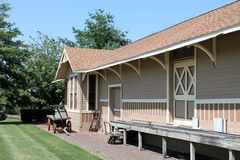 Old Train Depot. Exterior view of old train depot Royalty Free Stock Photo