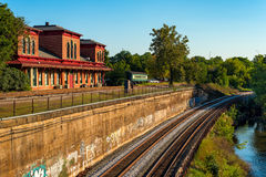 Old train depot Royalty Free Stock Images