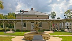 Old Train Depot. The worlds first railroad junction was located in Branchville, SC Royalty Free Stock Images