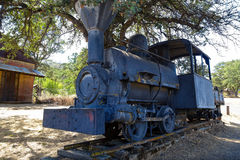 Old Train on Display in Coulterville, California stock image