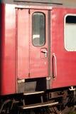Old train door detail. Old red train door detail royalty free stock photo