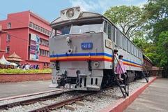 Old train exhibit in Malacca Stock Photo