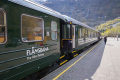 The old railway Flamsbana, Flam, Norway Royalty Free Stock Images