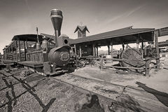 Old Train in Gold Field Ghost Town Royalty Free Stock Photography