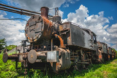 Old train. In the grass Stock Photos