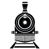 Old train icon Stock Image