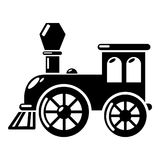 Old train icon, simple style. Old train icon. Simple illustration of old train vector icon for web Royalty Free Stock Photography