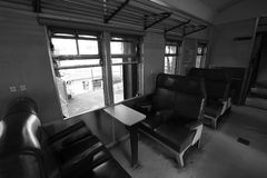 Old Train Interior Stock Photography
