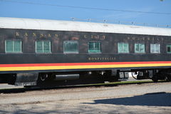 Old Train Kansas City Southern Hospitality Royalty Free Stock Image