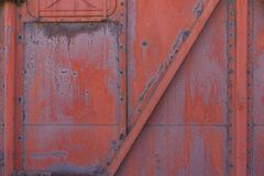 Locomotive detail, Red wall stock image