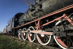 Old Train Locomotive. Wheel on railroad Royalty Free Stock Photography