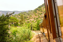 Old train in Mallorca for print royalty free stock photo