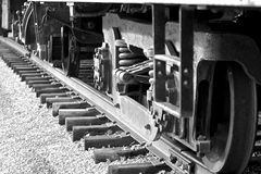The old train moving Royalty Free Stock Photos