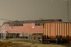 Old train in koege station denmark Stock Photo