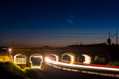 Old train overpass in maremma, tuscany Stock Images
