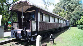 Old train in park. In Bangkok of Thialand Royalty Free Stock Photography