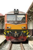 Old train. Parked in a railway station in Thailand Stock Photography