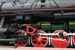 Old train in railroad Stock Photography