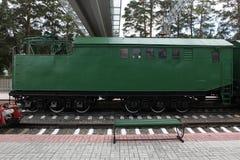 Old train at railroad Royalty Free Stock Image