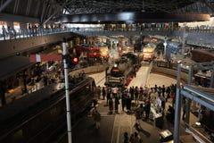Old train in railway museum of Railway Park Stock Photos