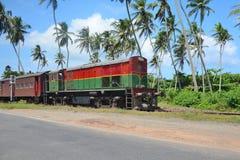 The old train on the railway of Sri Lanka Royalty Free Stock Image