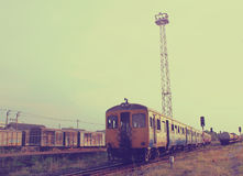 Old train with retro filter effect Stock Photo