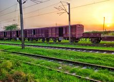 An old train. Standing near Walton station, Lahore Royalty Free Stock Photos