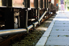 Old train standing at the station. Stock Photography