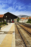 Old train station. And blue sky Royalty Free Stock Images