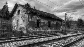 Old Train Station-abandoned building Stock Photography