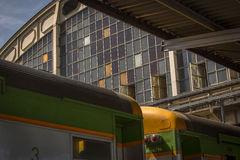 Old train station Bangkok. With colored windows Stock Photography