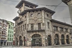 Old train station in Bilbao, Spain. Royalty Free Stock Photos
