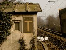 OLD TRAIN STATION CONTROL POINT Royalty Free Stock Image