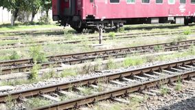 Old train station stock video footage