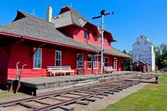 Old train station royalty free stock images