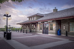 Old train station at Heritage Park Royalty Free Stock Image