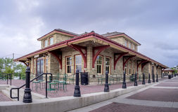 Old train station at Heritage Park Stock Photo