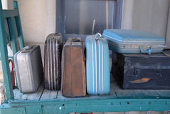 Old Train Station Luggage. Image taken some old luggage at an old train Station at French Lick Royalty Free Stock Photos