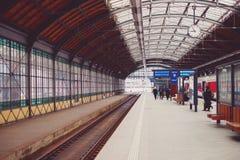 Old Train Station. Platform, copenhagen, travel building Stock Photography