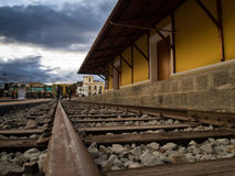 Old train station Riobamba Ecuador. Houndreds of year and thousand of trains arrived to the station at Riobamba Ecuador Royalty Free Stock Image