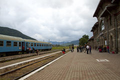 Old Train Station in Romania Royalty Free Stock Images